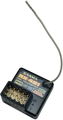 Sanwa RX-491 (FH-5, SUR) Waterproof Telemetry Receiver