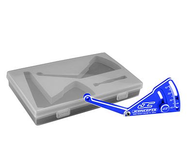 JConcepts Aluminum Ride Height Gauge w/Case (Blue·Adjustable 10-40mm)
