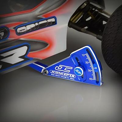 JConcepts Aluminum Ride Height Gauge w/Case (Black·Adjustable 10-40mm)