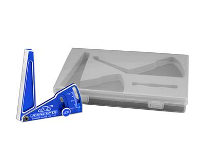 JConcepts Aluminum Camber Gauge w/Case (Black·Fits 1/10Th Vehicles)