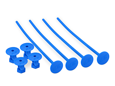JConcepts 1/10Th Off-Road Tire Stick - Hold 4 Mounted Tires (Blue)