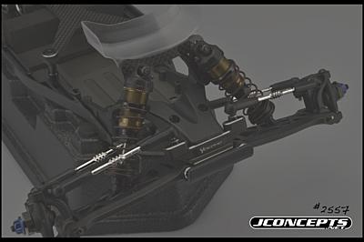 JConcepts Yokomo YZ-2DTM Fin Titanium Turnbuckle Set (6pcs)