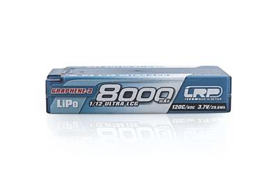 LRP P4 1/12 Ultra LCG GRAPHENE-2 8000mAh Hardcase battery - 3.7V LiPo - 120C/60C