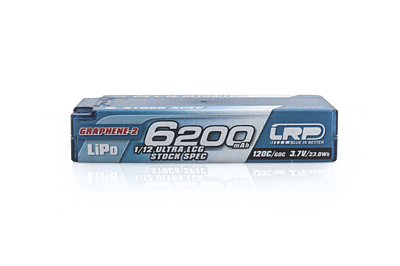 LRP Graphene-2 Ultra LCG Stock Spec 1/12 6200mAh 3.7V 1S 120C/60C LiPo (4mm, 150g)