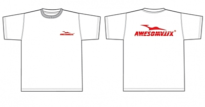 Awesomatix T-Shirt White +Red Print (XXL size)