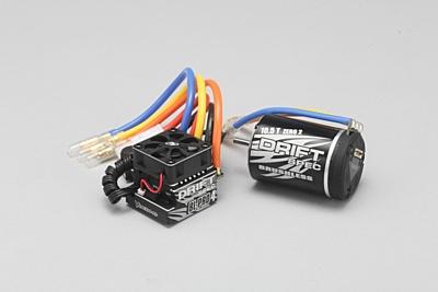 Yokomo DRIFT SPEC Combo BL-PRO4 ESC & 10.5T Zero 2 Black Motor
