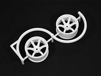 Racing Performer Drift Wheel 6 spoke 02 (6mm Offset·White·2pcs)