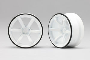 Racing Performer High Traction Drift Wheel (6mm Offset·White·2pcs)