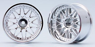 Yokomo 10-Mesh Wheel (Chrome) Off-set 12mm