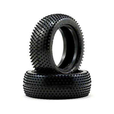 Schumacher Mini Pin - 4WD Front Tyres - Yellow (1 pair)
