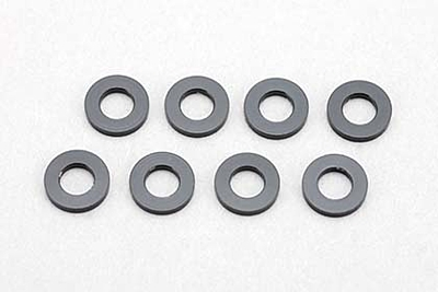 Yokomo 3×6×2.0mm Aluminum Shim (8pcs·Black)