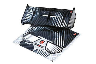 Bittydesign Stealth 1/8 Buggy & Truggy Plastic Wing Set (Black)