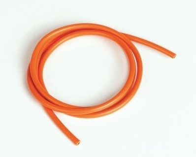 Graupner Silicon Wire Ø4.1mm, 1m, Orange, 11AWG