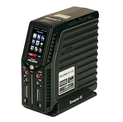 Graupner Polaron EX1400 DC (12V) Charger (2x30A) Black