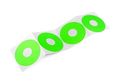 Ultimate Racing 1/10 Closed Rim Stickers - Green (4pcs)
