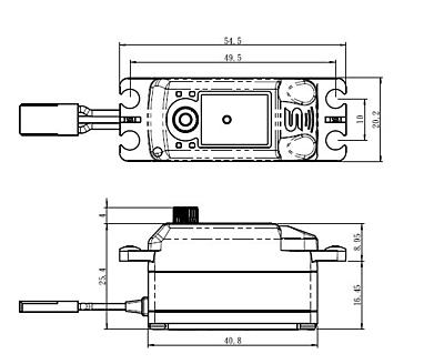 Savöx SB-2263MG Low Profile (0.076s/10.0kg/6.0V) Brushless Servo