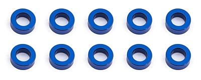 Associated Ballstud Aluminum Washers, 5.5x3.0x2.0mm (10pcs·Blue)
