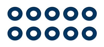 Associated Washers, 7.8x3.5x0.5mm, blue aluminum