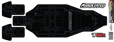 Associated T6.1 FT Chassis Protective Sheet, Printed