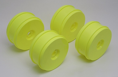 Associated 1:8 Buggy Wheels, 83 mm, 17 mm Hex (Yellow)