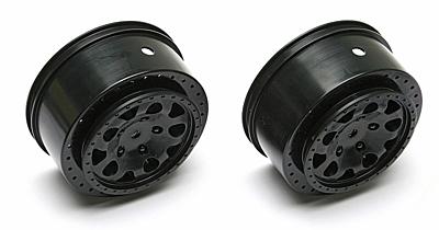 Associated KMC Hex Wheels (Black)