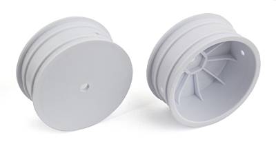 Associated 4WD Front Wheels, 2.2in, 12mm Hex (White)