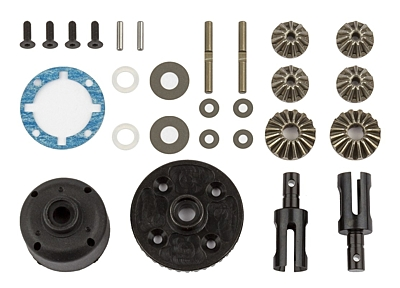Associated RC10B74 Differential Set, front and rear