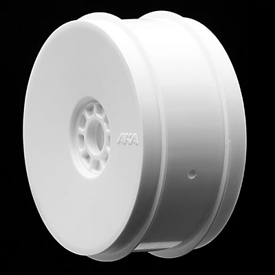 AKA 1:8 Buggy Zipps (Soft) Evo Wheel Pre-Mounted White (2pcs)