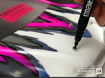 Bittydesign Magnetic Body Post Marker Kit - PURPLE
