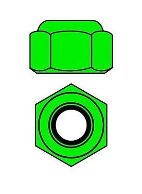 Corally Aluminium Nylstop Nut M3 (Green·10pcs)