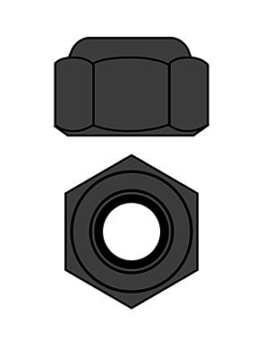 Corally Aluminium Nylstop Nut M3 (Gun Metal·10pcs)