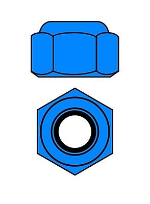 Corally Aluminium Nylstop Nut M3 (Blue·10pcs)