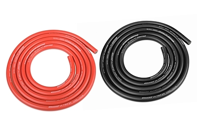 Ultra V+ Silicone Wire - Super Flexible - Black and Red - 12AWG - 1731 / 0.05 Strands - OD