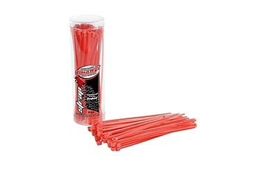 Team Corally - Strap-it - Cable Tie Raps - Red - 2.5x100mm - 50 pcs