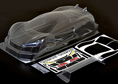 Exotek R-TEK GT Body 1/10 Clear Lexan Body w/ Wing