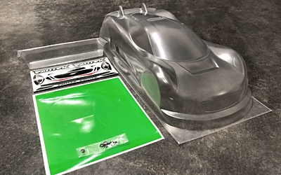 Exotek J-ZERO 1/10 USGT Race Body Clear Lexan w/ Wing