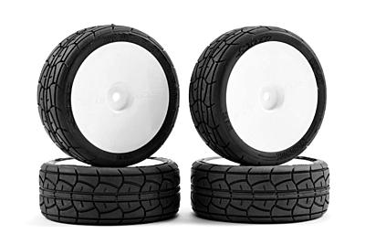 Sweep EXP Rain Pre-Glued Touring Car Rubber Tires  26mm (4pcs)