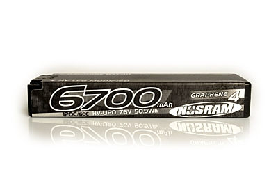 Nosram Graphene-4 Ultra LCG Modified 6700mAh 7.6V 2S 135C/65C HV LiPo (5mm, 274g)