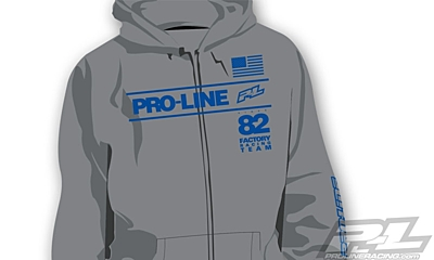 Pro-Line Factory Team Gray Zip-Up Hoodie - L
