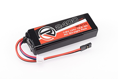 Ruddog 2400mAh 7.6V LiHV RX Straight Pack (Fits Associated/Mugen/Sworkz/Xray)
