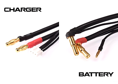 Ruddog 2S Charging Lead 30cm (4/5mm, 2mm / 4mm, 3PIN-XH)