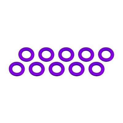 Ultimate Racing Aluminum Shim 3x6x0.5mm (10pcs·Purple)