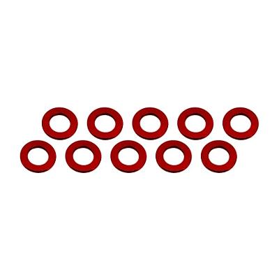 Ultimate Racing Aluminum Shim 3x6x0.5mm (10pcs·Red)