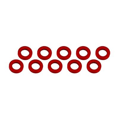 Ultimate Racing Aluminum Shim 3x6x1mm (10pcs·Red)