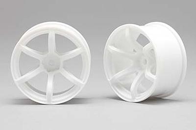 Racing Performer Drift Wheel 6 spoke 02 (8mm Offset·White·2pcs)