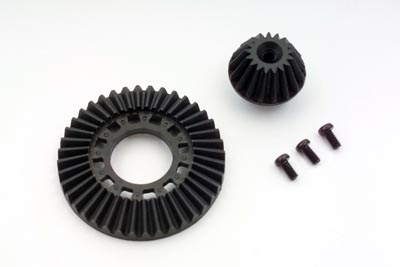 Yokomo Graphite Ring Gear/Drive Gear Set for Front One Way & Solid Axle