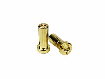 1up Racing LowPro Bullet Plugs 5mm (2pcs)