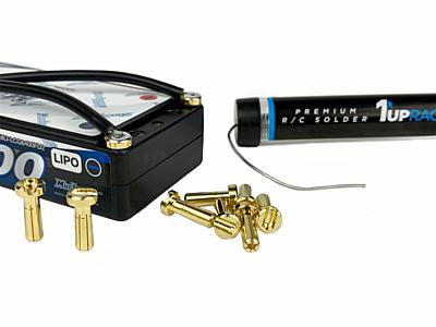 1up Racing LowPro Bullet Plugs 4mm (10pcs)