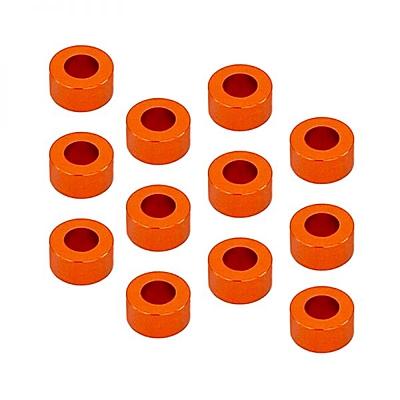 1up Racing 3x6mm Precision Aluminum Shims Set (12x0.25/0.5/1/2/3mm) - Orange (60pcs)