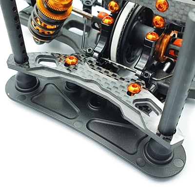 RC Maker GeoCarbon Bumper Plate w/Stopper for Xray T4'20